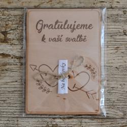 Svatební dřevěné přání