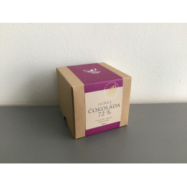Čokoládové peniažky v krabičke - horká čokoláda 72 %