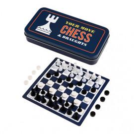 Cestovný šach a dáma na  každú príležitosť