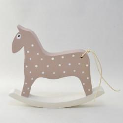 Hojdací koník - ružový