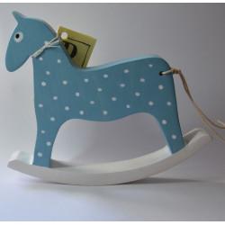 Hojdací koník - modrý