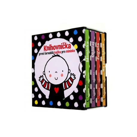 Knihovnička - První černobílé knížky pro miminko