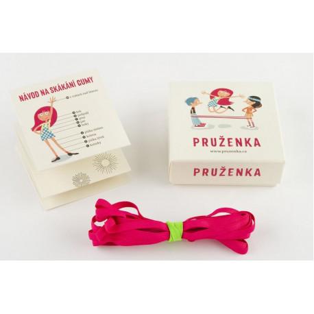 4kavky, Pružienka – legendárna skákacia guma, Barevná varianta skákací gumy ružová