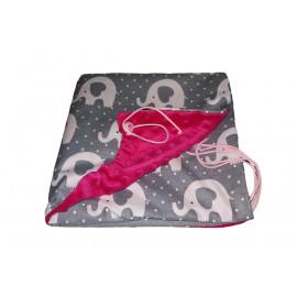 Nekĺzavá obojstranná deka fleece MINKY/ BAVLNA - menšia