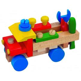 Drevené montážne nákladné auto