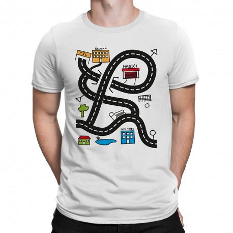 Tričko pre (nielen) unavených oteckov, autodráha, Veľkosť trička S