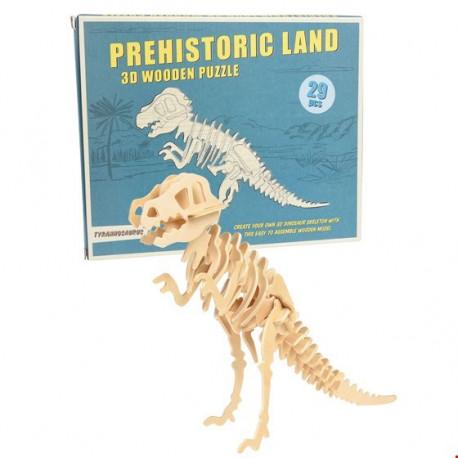 RexLondon, Tyranosaurus Rex - 3D drevené puzzle